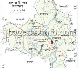 Bagerhat-sador-Map